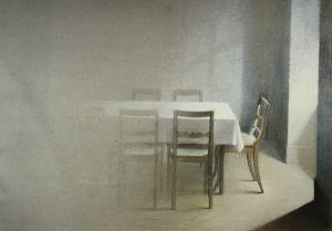 Bild: Licht und Raum, Öl auf Papier, 80 x 100 cm, Privatbesitz