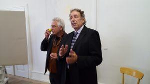 ... mit Florian Sonnleitner voer der Performance.Foto: Renata Keller