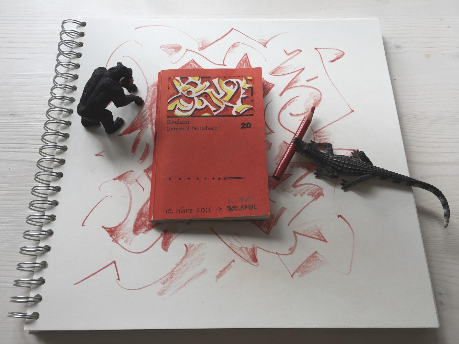 Buch 20 – Jahresprojekt mit Reclam-Universal-Notizbüchern