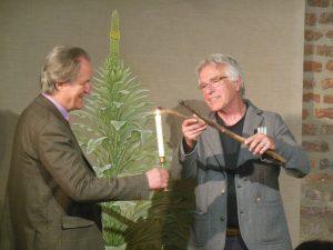 Godehard Graf Hoensbroech und Alfred Bast bei der Einführungsperformance