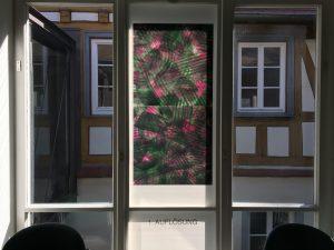 Fensterseite: Foliengalerie, Echinacea-Prozess. 1. Auflösung, Foto: KUNST KLOSTER
