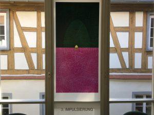 Fensterseite: Foliengalerie, Echinacea-Prozess. 3. Impulsierung, Foto: KUNST KLOSTER