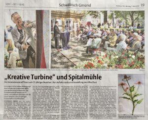 Zeitungsbericht, Rems-Zeitung, Schwäbisch Gmünd, von Reinhard Wagenblast
