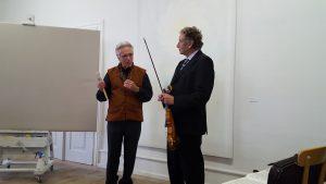 ... mit Florian Sonnleitner voer der Performance. Foto: Renata Keller