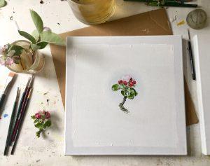 Natur-Ikone, Apfel-Blüten- Arbeitsplatz, 2019